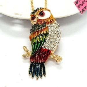 Cute Owl 🦉 Pendant -Brooch Necklace